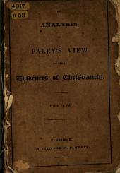 Joyce's Analysis of Paley's View of the Evidences of Christianity ... New edition, corrected