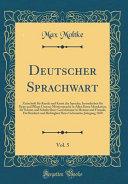 Deutscher Sprachwart  Vol  5 PDF