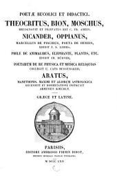 Poetae bucolici et didactici: Nicander, Oppianus, Marcellus de piscibus, Poeta de herbis