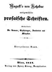 Ausgewählte prosaische Schriften: Enthaltend : die Romane, Erzählungen, Anekdoten und Miszellen, Band 14