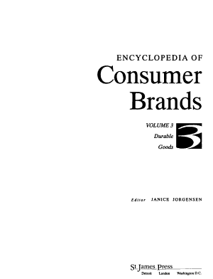 Encyclopedia of Consumer Brands  Durable goods PDF