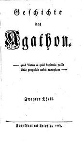 Geschichte des Agathon: Band 2