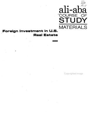 Foreign Investment in U S  Real Estate PDF
