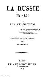 La Russie en 1839: Volume2