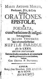 Orationes, Epistolae et Poemata