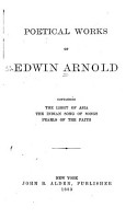 Poetical Works of Edwin Arnold PDF