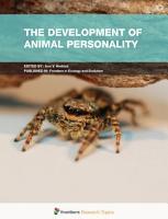 The Development of Animal Personality PDF