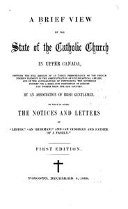 A Brief View of the State of the Catholic Church in Upper Canadamicroform PDF