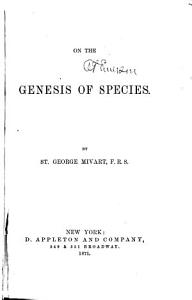 On the Genesis of Species PDF