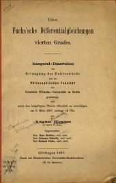 Ueber Fuchs'sche Differentialgleichungen vierten Grades ...