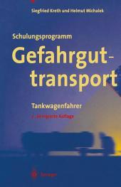 Schulungsprogramm Gefahrguttransport: Tankwagenfahrer, Ausgabe 2
