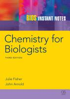 BIOS Instant Notes in Chemistry for Biologists PDF
