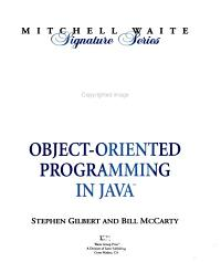 Object Oriented Programming in Java PDF