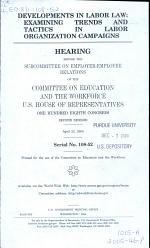 Developments in Labor Law