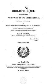 Bibliothèque étrangère d'histoire et de littérature, ancienne et moderne: Volume1