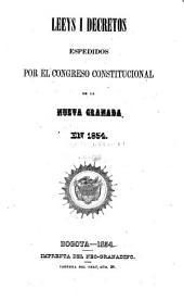 Leeys i decretos [i actos lejislativos] espedidos por el Congreso constitucional de la Nueva Granada
