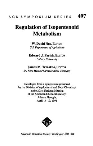 Regulation of Isopentenoid Metabolism