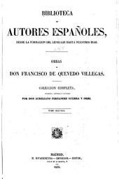 Obras de don Francisco de Quevedo Villegas: Volumen 2;Volumen 48