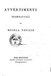 Avvertimenti grammaticali di musica vocale