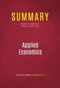 Summary  Applied Economics Book