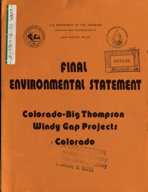 Colorado Big Thompson Windy Gap Project PDF