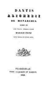 De monarchia: libri 3, Volume 3,Parte 1