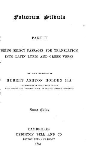 Foliorum Silvula  Part II