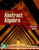 Pearson Etext for First Course in Abstract Algebra  a    Access Card PDF