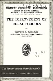 The Improvement of Rural Schools