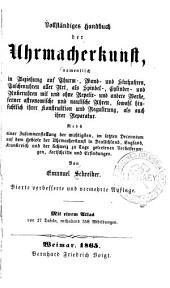 Vollständiges Handbuch der Uhrmacherkunst ...