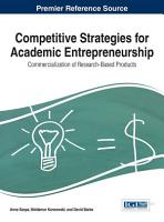Competitive Strategies for Academic Entrepreneurship  Commercialization of Research Based Products PDF