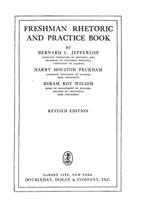 Freshman Rhetoric and Practice Book PDF