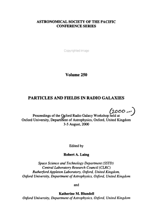 Particles and Fields in Radio Galaxies