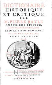 Dictionaire historique et critique: Volume1
