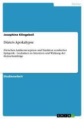 Dürers Apokalypse: Zwischen Antikenrezeption und Tradition nordischer Spätgotik - Gedanken zu Intention und Wirkung der Holzschnittfolge