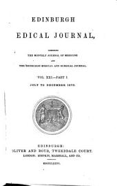 Edinburgh Medical Journal: Volume 21, Part 1