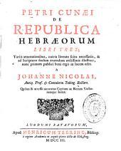 De Republica Hebraeorum libri tres...