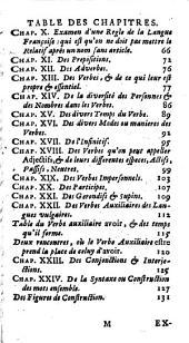 Grammaire generale et raisonnée, contenant les fondemens de l'art de parler; expliquez d'une manière claire et naturelle de la langue Françoise