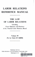 Labor Relations Reference Manual   The Law of Labor Relations vol  89 PDF