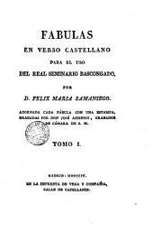 Fábulas en verso castellano para el uso de R. Seminario Bascongado, 1