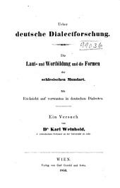 Ueber deut Dialect for Schung