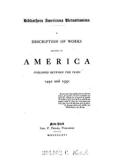 A Description of Works Relating to America PDF