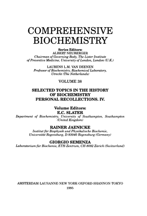 Selected Topics in the History of Biochemistry  Personal Recollections  IV PDF
