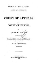 Reports of Cases at Law and in Equity: Argued and Determined in the Court of Appeals and Court of Errors of South Carolina