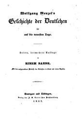 Geschichte der Deutschen bis auf die neuesten Tage