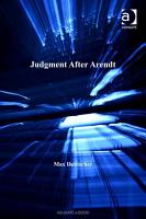 Judgment After Arendt PDF