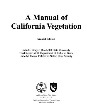 A Manual of California Vegetation