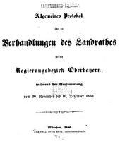 Verhandlungen des Landrathes von Oberbayern: 1849/51 (1850)