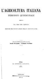 L'Agricoltura italiana: Volume 17
