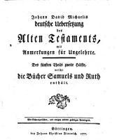 Johann David Michaelis deutsche Uebersetzung des Alten Testaments0 PDF